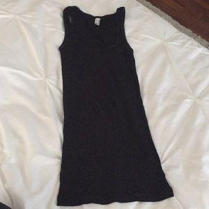 American apparel black ribbed tank top medium